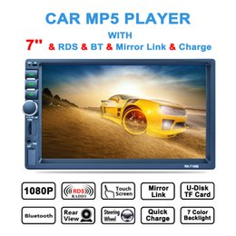 Wholesale Car Stereo Monitors - 7 Inch 2 DIN In Dash HD Touch Screen Car Video Stereo Player Bluetooth AM FM RDS Radio Support Mirror Link Aux In Rear View Camera CMO_22E