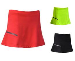 Wholesale White Table Skirting - Tennis Skorts Fitness Short Skirt Badminton Skirt table tennis Skirt polyester breathable Quick drying Women Sport Gym running Yoga Skirts