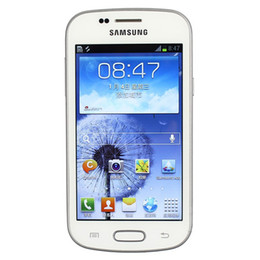 Wholesale Unlocked Cell Phones Wifi - Original Samsung GALAXY Duos S7562i 4.0 inch TFT Screen 4G ROM Android OS WIFI GPS Blluetooth WCDMA 3G Unlocked Cell Phone Refurbished