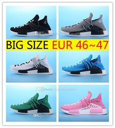 Wholesale People Running - Cheap NMD HUMAN RACE Williams Pharrell x NMD HumanRace People Racing Shoes HumanRace White Yellow Black NMD Shoe running shoes Size 36-47
