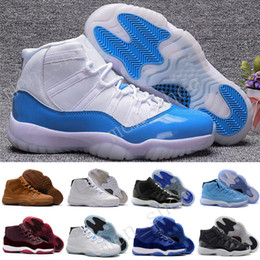 Wholesale Rhinestone Boots Genuine Leather - New 2017 Retro 11 Mens Basketball Shoes Concord Bred Georgetown Space Jam Citrus GS Running Sneakers Women Men High Cut Athletics Boots XI