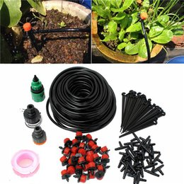 Wholesale Automatic Drip Irrigation Kit - 25M DIY Automatic Micro Drip Irrigation System Plant Watering Garden Hose Kits With Adjustable Dripper Smart Controller Suits 0701030