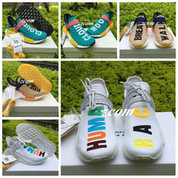 Wholesale Rubber Family - Originals Nmd Human Race Hu Sun Glow Pink Friends And Family Black Species Being Men Women Running Shoes Sneakers Nmds Pharrell Williams