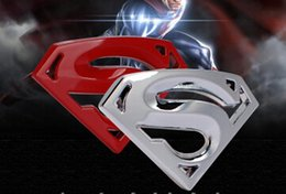 Wholesale high quality auto body - High Quality 3D 3M chrome emblem Auto logo Motorcycle accessories Funny car stickers Superman badge metal Universal Car styling