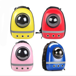 Wholesale Capsule Shape - 2017 New Space Capsule Shaped Pet Carrier Breathable backpack PC dog outside Travel portable cat bags