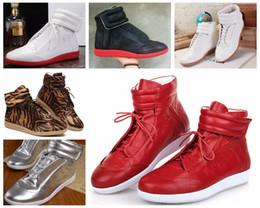 Wholesale Women Dazzling Shoes - Maison Martin Margiela High Help Dazzle Colour Leisure Hip Hop Shoes Red Bottoms For Men And Women Shoes Fashion Movement Party