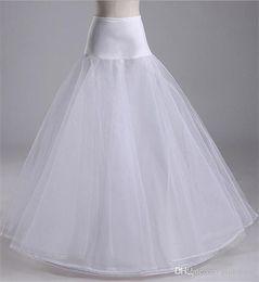Wholesale Crinoline Skirts For Sale - 2016 Hot Sale Hoop A Line Bone Petticoats For Wedding Skirt Accessories Slip Underskirt Crinoline Wedding Dresses Petticoat