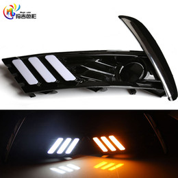 Wholesale Toyota Corolla Drl - Manufacture Direct Sale LED Daytime Running Light DRL Drving Day light With Turn Signal White Amber for Toyota Corolla 2017