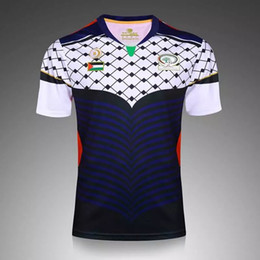 Wholesale rugby team jerseys - 2017 2018 Palestine Jersey Top thai quality 16 17 Palestine national team home away sports shirt jerseys Free shipping