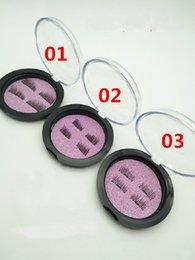 Wholesale Eyelash False Single - Creative NEW trend 3D magic reusable magnetic eyelashes hand made silk single magnet false eyelashes 120 set