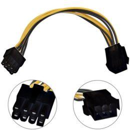 pci cpu card Desconto Atacado-1PC 6 Pin Feamle para 8 pinos macho PCI Express Power Converter cabo CPU placa gráfica de vídeo 6 pinos para 8 pinos PCIE cabo de alimentação