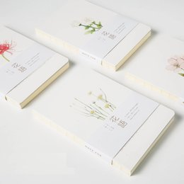 Wholesale Note Book Flower - Wholesale- 2017 New Note For Flowers Brief Notebook paper Sketchbook Diary Painting Sketch Book School Supplies Gift Stationery
