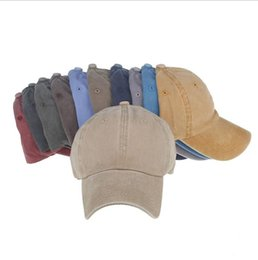 Wholesale Baseball Cap Washed - Women Snapback Caps Men Baseball Cap Hats For Men Casquette Plain Bone Gorras Cotton Washed Blank Vintage Baseball Caps Sun Hat