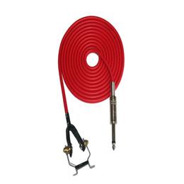 Cabo de alimentação de alta on-line-Atacado-Alta Qualidade 1PCS 1.8M Comprimento Red Rubber Silicone Tattoo Clip Cord Para Tattoo Power Clip Cord Abastecimento Frete Grátis