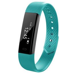 2019 напоминание о сообщении смарт-браслеты Wholesale- Smartch ID115 Sports Wristband Smart band call message reminder Fitness Tracker ID115 Wristwatch Bracelet дешево напоминание о сообщении смарт-браслеты