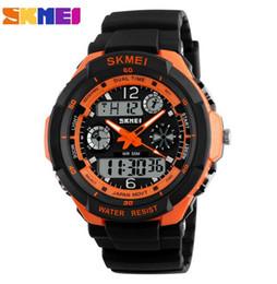 Wholesale Wholesale Watches Skmei - 2017 Men Quartz Digital Watch Men Sports Watches Relogio Masculino SKMEI S Shock Relojes LED Military Waterproof Wristwatches 7 colors