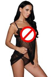 Wholesale Black Babydoll Dress Ruffle - 2017 hot sale Summer Valentine Sexy Lingerie Hot Sleepwear Erotic Lingerie Ruffle Open Cup Babydoll dress Nightwear for women
