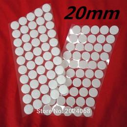 Canada 50Paires 20mm Magique Nylon Pièce De Vinyle Autocollant Double Face Adhésif Crochets Boucles Disques Blanc Rond Pads Dot Attache Bande Couture Craft Offre
