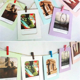Wholesale Wooden Photo Frame Albums - Photo Frame Hot Sell 6 Inch Creative Gift DIY Wall Hanging Paper Photo Frame Wall Picture Album Freeshipping Wholesale
