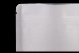 Tamaño 130 * 210mm 500 unid blanco bolsa de papel de Kraft de pie bolsa de embalaje para el ocio de alimentos envasado bocado / caramelo / té / tuercas envío gratis por DHL desde fabricantes