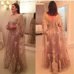 Wholesale Dresses For Women Bride - 2017 New Tulle Lace Cowl Mother of the Bride Dresses for Weddings Long Plus Size Formal Women Evening Party Gowns