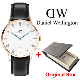 Wholesale Men Slim Watches - Mens Fashion Watches Top Brand Luxury Ultra Slim Calendar Display Date Casual Quartz Watch Men 2016 Business Leather Band Relogio Masculino