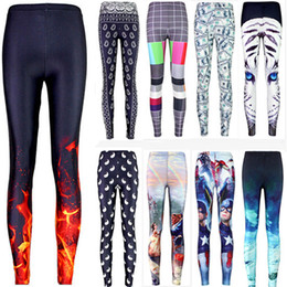 Wholesale Galaxy Print Tie - Wholesale- Sexy 2016 hot sale new arrival Novelty 3D printed fashion Women leggings space galaxy leggins tie dye fitness pant free shipping