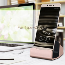 Wholesale Dock Interface - Brand New Type C USB Charger Sync Station Cradle Dock Chargers Desktop Car Quick Charger For All Type C Interface Devices