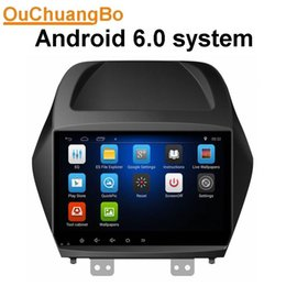Wholesale Bluetooth Sat Nav Car Radio - Ouchuangbo car audio sat nav stereo android 6.0 system for Hyundai IX35 support SWC USB BT bluetooth calculator function