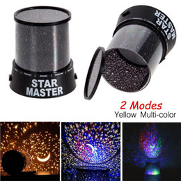 Wholesale Baby Bedroom Lighting - Wholesale- LED Night Light 2 Mode Star Sky Cosmos Master Projector Romantic Room Novelty Starry Sleeping Lights For baby Bedroom Cute Gift