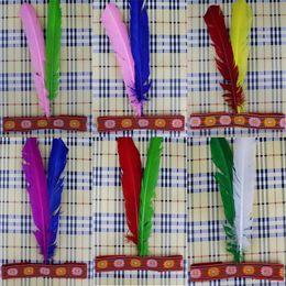 Wholesale Kids Feather Headdress - Kids Children DIY Indian Feather Headband Headdress Native Indian Savage Hair Accessories Halloween Carnival Party Favors