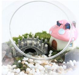 Ferramentas de jardinagem em miniatura on-line-Decoração de casa de Resina Mini Ponte Em Miniatura Paisagem Jardim de Fadas Musgo Terrário Decoração Ferramenta Jardim Artesanato DHL grátis frete