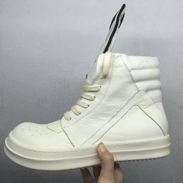 Wholesale Roll Up Shoes - Wholesale-High-end Men Genuine Leather Owen Cool Tide Rock And Roll Custom Brand Fashion Boot Man T stage Design Leisure Luxury Shoes