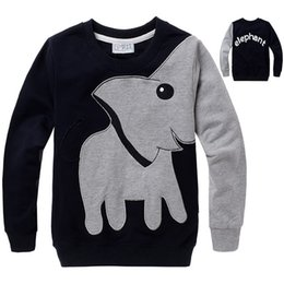 7321e6ddee25ac kids t shirt elephant Promo Codes - Kids Spring and Autumn Clothing Boys  Cotton Long-