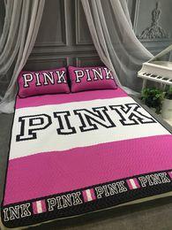 Ropa de cama de color rosa para adultos online-Nueva marca de moda de color rosa cama de verano estera 3 unids cama doble aire acondicionado conjunto de ropa de cama fresca ropa de cama de verano suministros