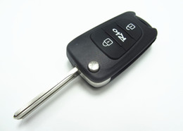 Wholesale Flip Key Kia - 3 Buttons Replacement Flip Folding Remote Key Shell Case Blank Fob For Kia Rio