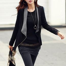 Wholesale korean style women s coat - Casaco Feminino 2015 New Spring Autumn Korean Style Slim Turn-Down Collar Side Zipper Jacket Women Coat S0562