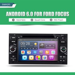 Wholesale Stereo For Ford Mondeo - Android 6.0 Quad Core Car DVD Player Stereo gps navigation For Ford Mondeo Focus S-max C-max Galaxy Fiesta Fusion Kuga EW851P6QH
