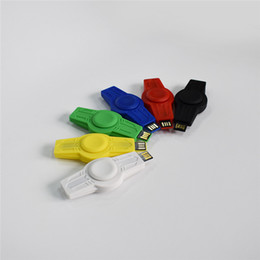 Wholesale Usb Flash Drive Yellow - Colorful Creative usb flash drive disk 4g 8g 16g 32g capacity plastic hand Fidget spinner Spinning Top Chirldren Finger EDC Toy Gifts
