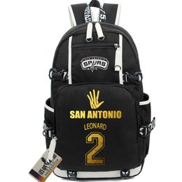 Wholesale Hiking Backpack Canvas - Kawhi Leonard backpack Basketball Star fans school bag 2 daypack San Antonio schoolbag Outdoor rucksack Sport day pack