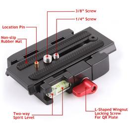Wholesale Quick Release Plate Adapter - P200 Quick Release Plate Adapter Aluminum Alloy QR Plate for canon nikon SLR digital camera Tripod Manfrotto 501 500AH 701HDV 503HDV Q5