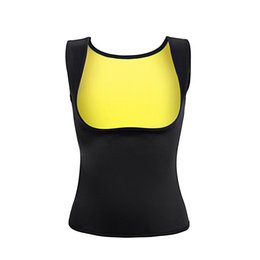 db76a56e007 Wholesale- Women Corset Sweat Vest Neoprene Breast Care Abdomen Fat Burning  Workout Body Girly Stretch Exercise Vest Hot Slimming Shapers