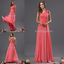 e8ab5b4adeaeb one shoulder hot pink bridesmaid dress Promo Codes - Hot Elegant One-Shoulder  Chiffon Long
