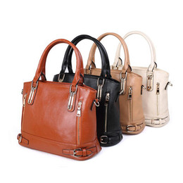 Wholesale Tote Handbags China - China Wholesale Blank PU Light Brown Purses Ladies Handbags Leather Handbags Buckle Tie Decoration Ladies Handbag With Free Shipping DOM459