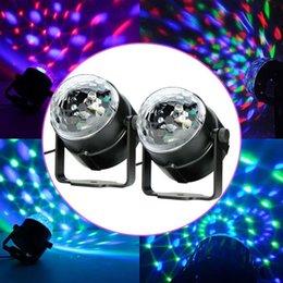 Wholesale Cheap Disco Dj Lights - Wholesale- 2x LED RGB DJ Club Disco Party Magic Ball Crystal Effect Light Stage Lighting led module lighting effects cheap led lights PML