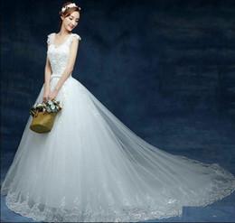 Wholesale Wedding Trails - 2017 cheapest high quality trail wedding gown wedding dress