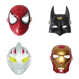 Wholesale Boys Superman Halloween Costumes - Boys and girls show ball mask spider-man iron man batman superman Halloween props