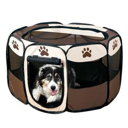 Wholesale Fences Small Dogs - Hot Sale Pet Cage Dog Supplies Pet Carrier Playpen for Dogs Fence Kennel Puppy Comfort House Playpen Exercise Pen Oxford Cloth HT0008