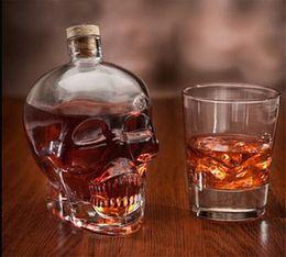 occhiali da cristallo Sconti Cranio Bere Bicchieri Vodka Whisky Shot Stile creativo Bottiglie per bevande Home Bar Occhiali Bere Cocktail Birra Tazze di cristallo G060