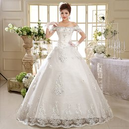 Wholesale Korean Tulle Shirt - Factory direct wedding dress new 2017 Korean version of the wedding word should be thin and white Korean straps, large size sexy luxury fash